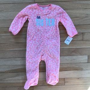 NWT! Carters pink fleece onesie footed pajama
